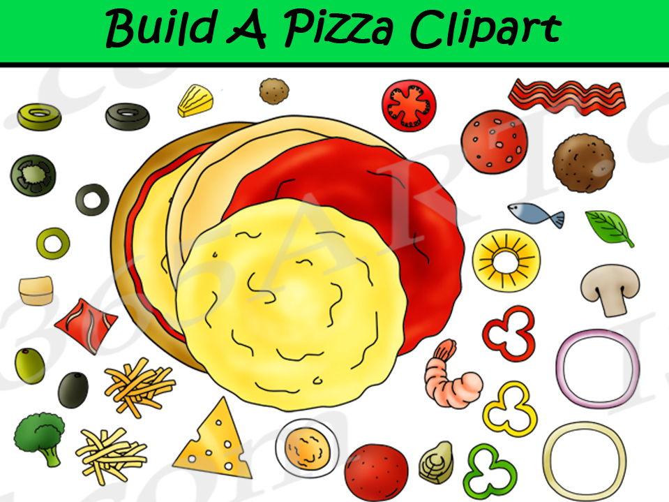 Build A Pizza Clipart Set.