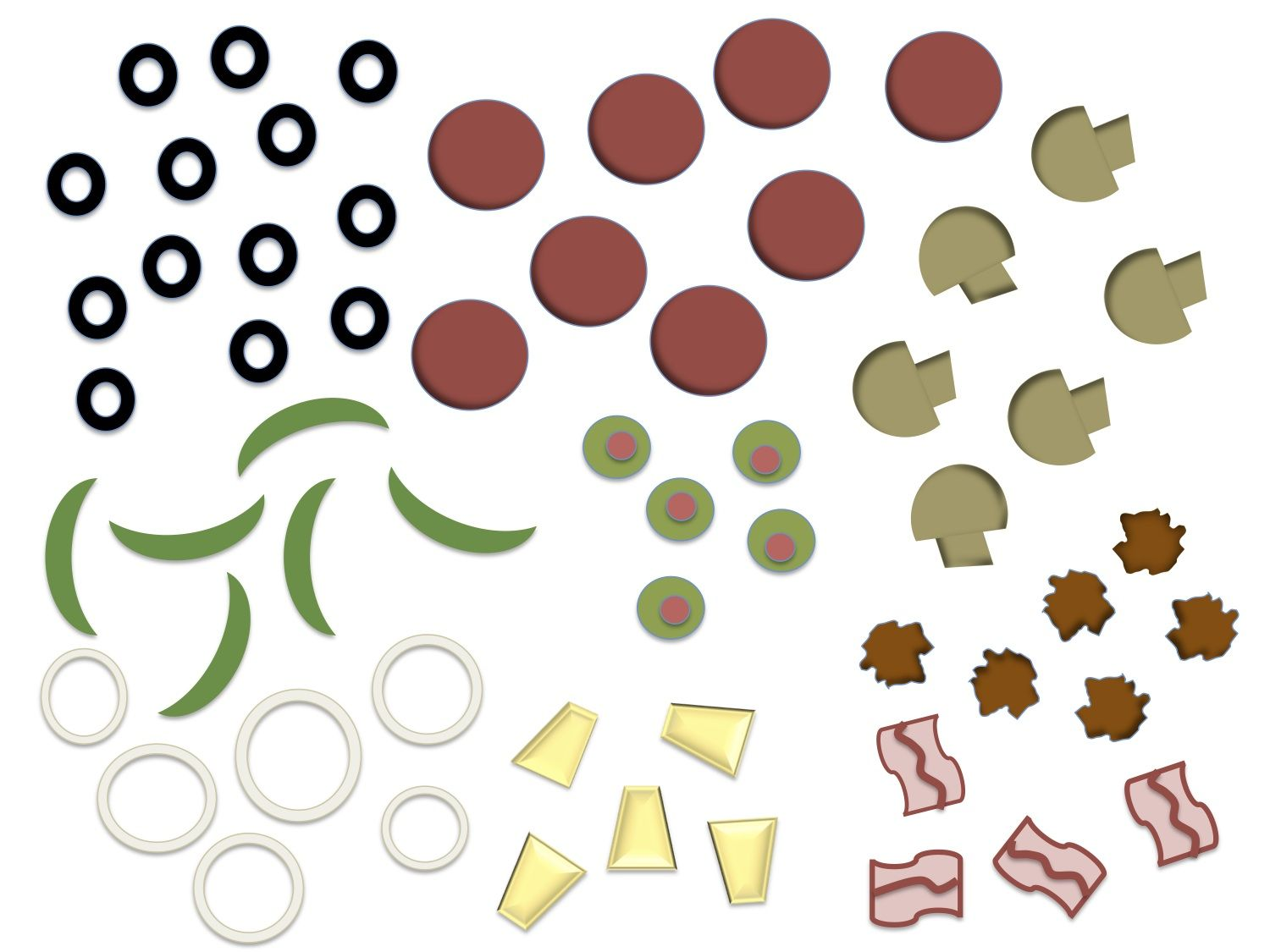 Printable Pizza Toppings Clipart Free Clipart.