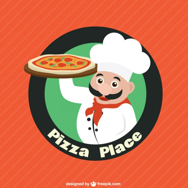 Pizza restaurant logo Vector.