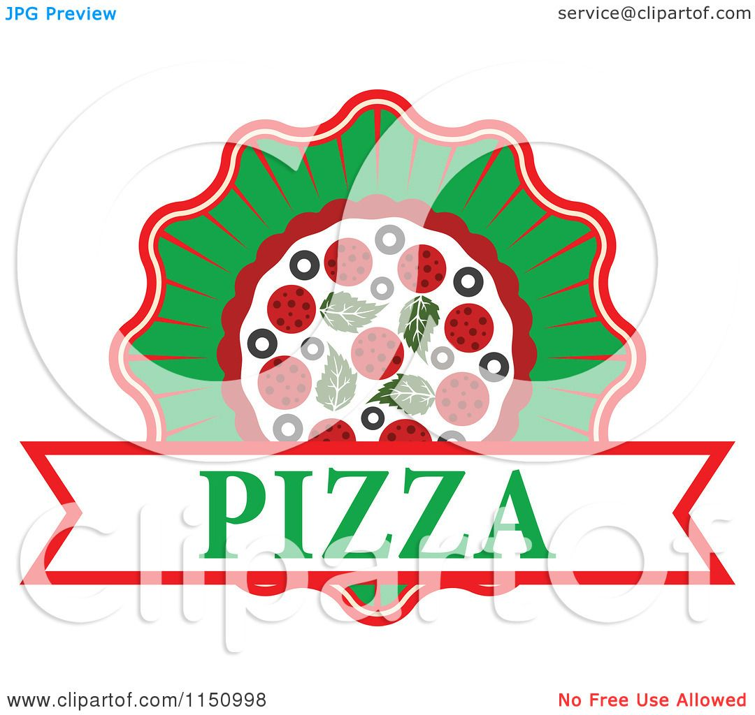 Clipart of a Pizza Logo.