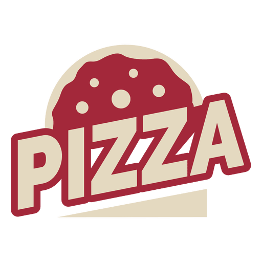 Pizza logo template.