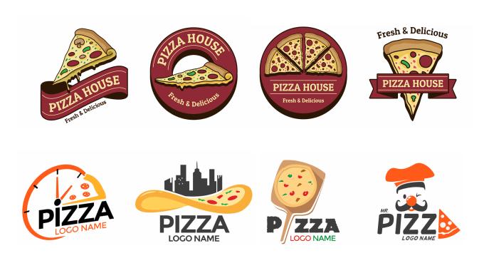 design creative pizza logo for you.