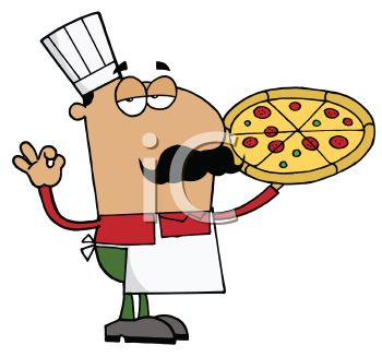 Pizza maker clipart.