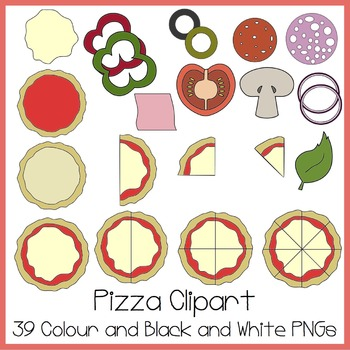 Pizza Clipart (Ideal For Fractions!).