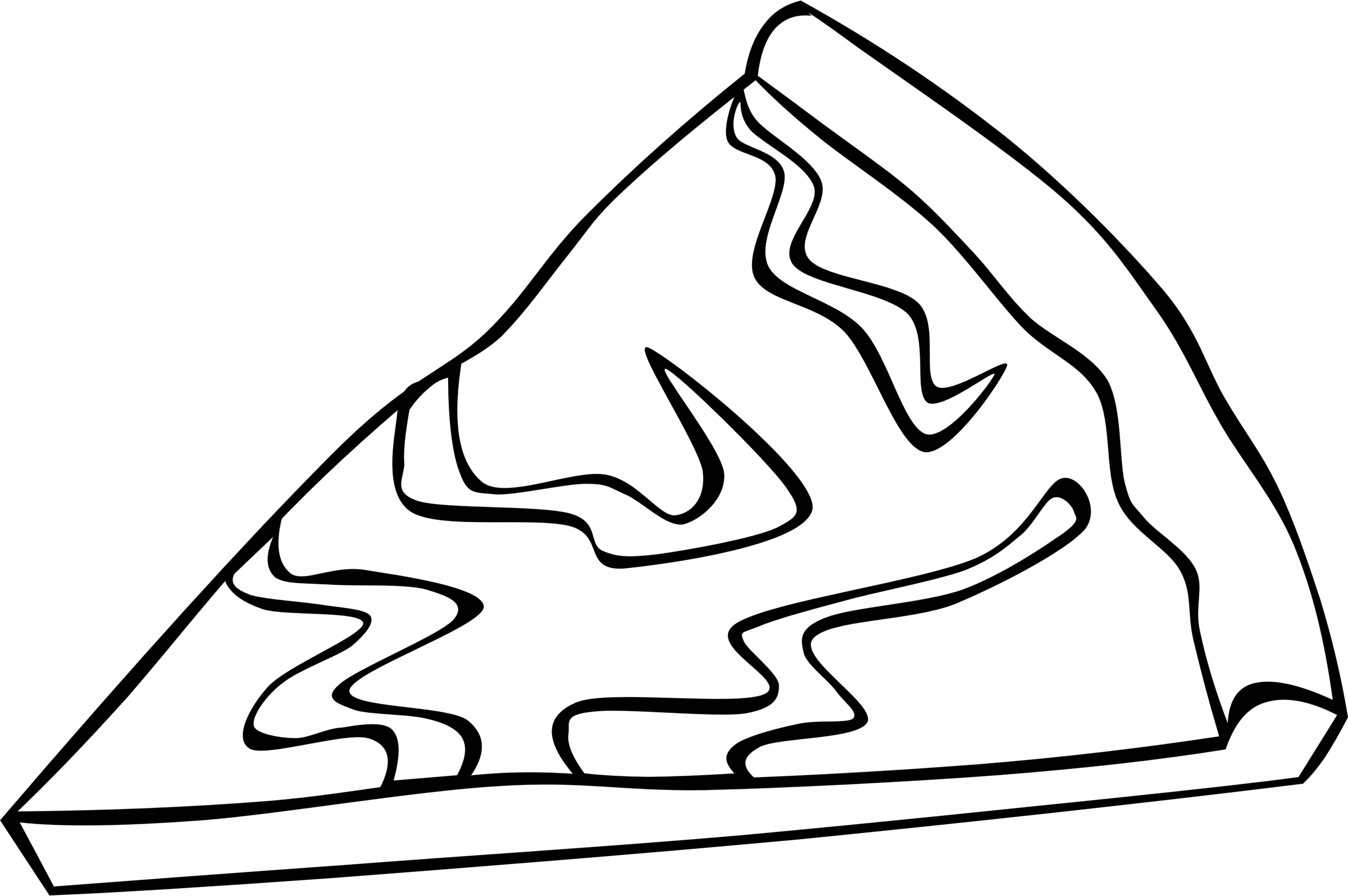 Outline clipart pizza, Outline pizza Transparent FREE for.