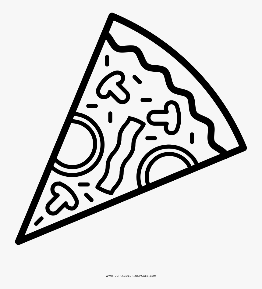 Pizza Coloring Page.