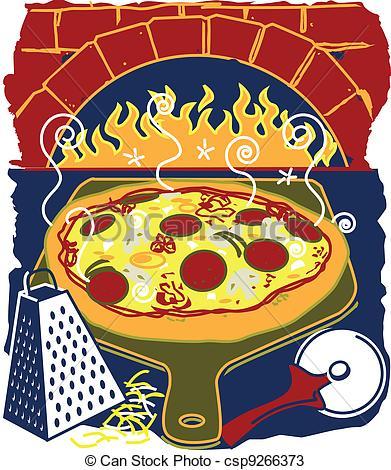 Vectors of Brick Oven Pizza.