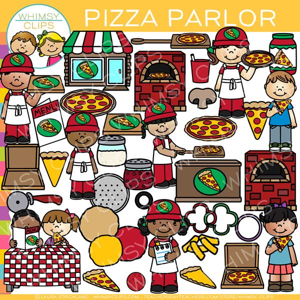 Fun Pizza Parlor Clip Art.