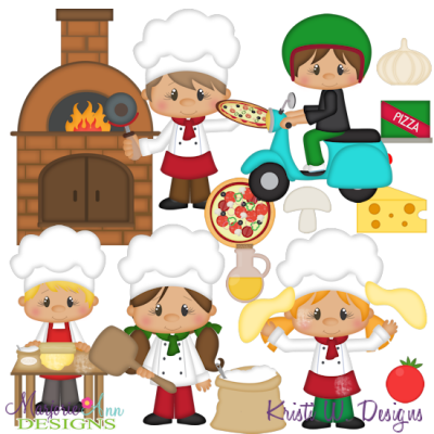 Pizza Parlor SVG Cutting Files Includes Clipart.
