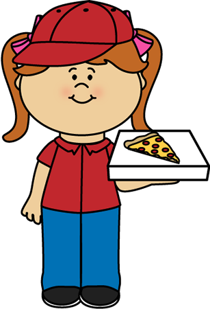 Cartoon Pizza Man Clipart.