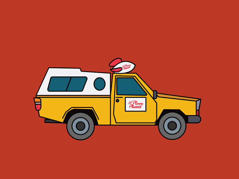 Pizza Planet Truck by Elisabeth [Me] on Dribbble.