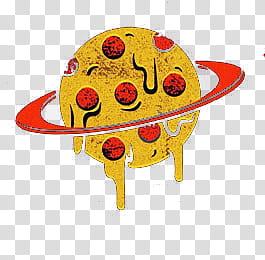 Pizza planet transparent background PNG clipart.