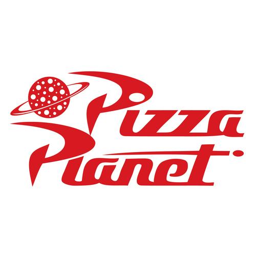 Pizza planet Logos.