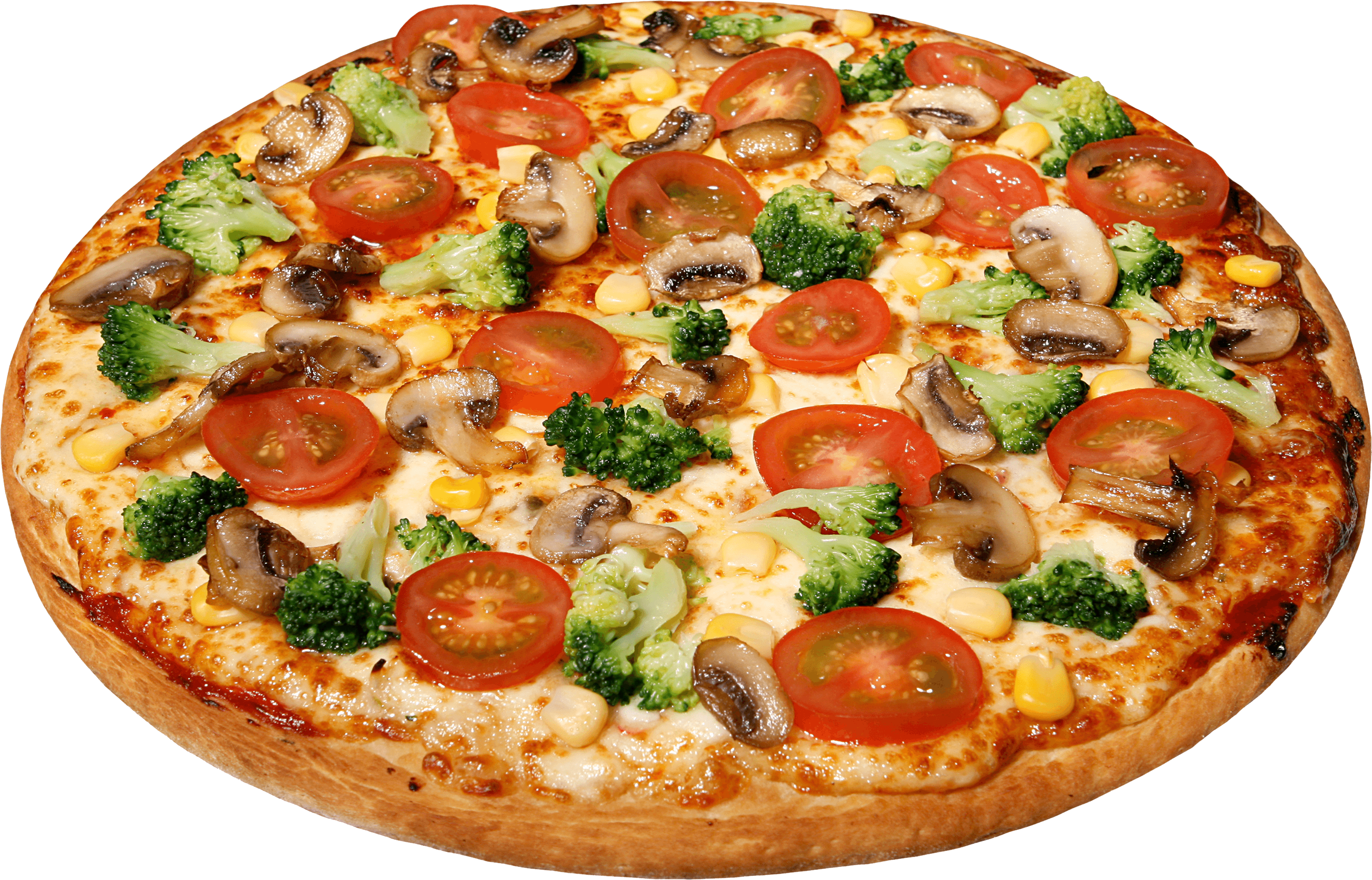 Large Pizza With Tomatoes transparent PNG.