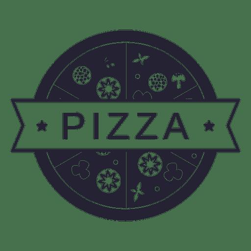 Pizza food restaurant logo.