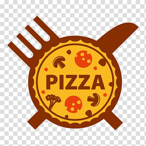 Pizza illustration, Pizza delivery Logo Italian cuisine.