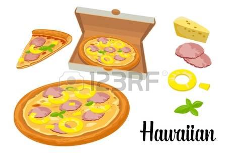 Pizza prosciutto clipart #9