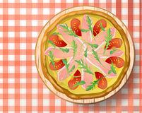 Pizza Italian Prosciutto Parma Ham Cheese Mozzarella Fres Stock.
