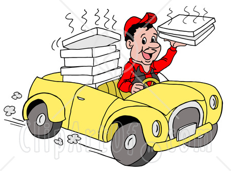 Delivery car clipart.