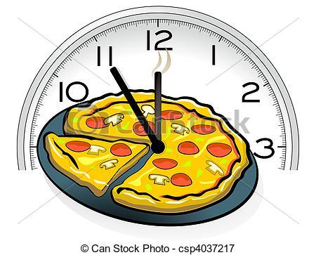 Vectors Illustration of Pizza service csp4037217.