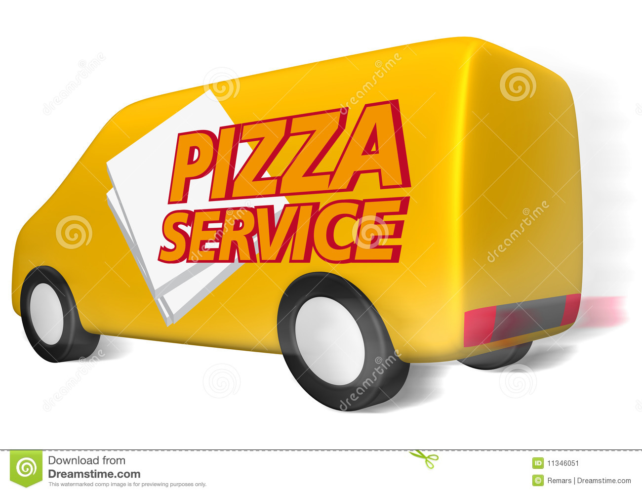 Pizza Delivery Stock Illustrations.