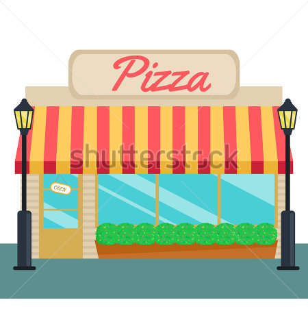 Pizza Shop Clipart And Tock Flat.