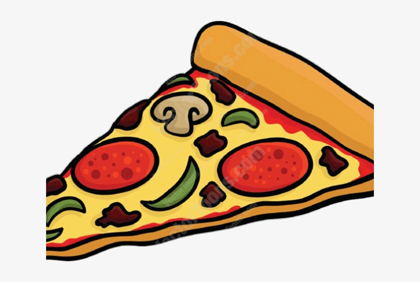 Pizza Slice Cartoon.