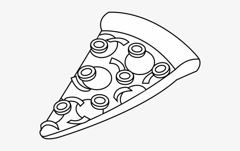 Pizza Slice Black And White Clipart Royalty Free Stock.