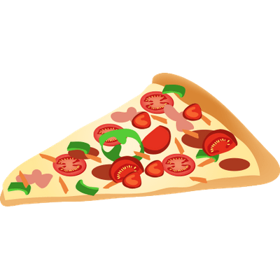 Pizza Slice Clipart transparent PNG.
