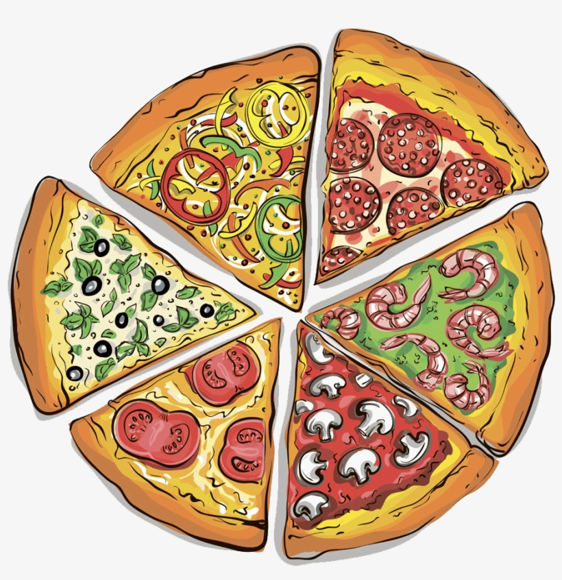 Pizza Slices Clipart.