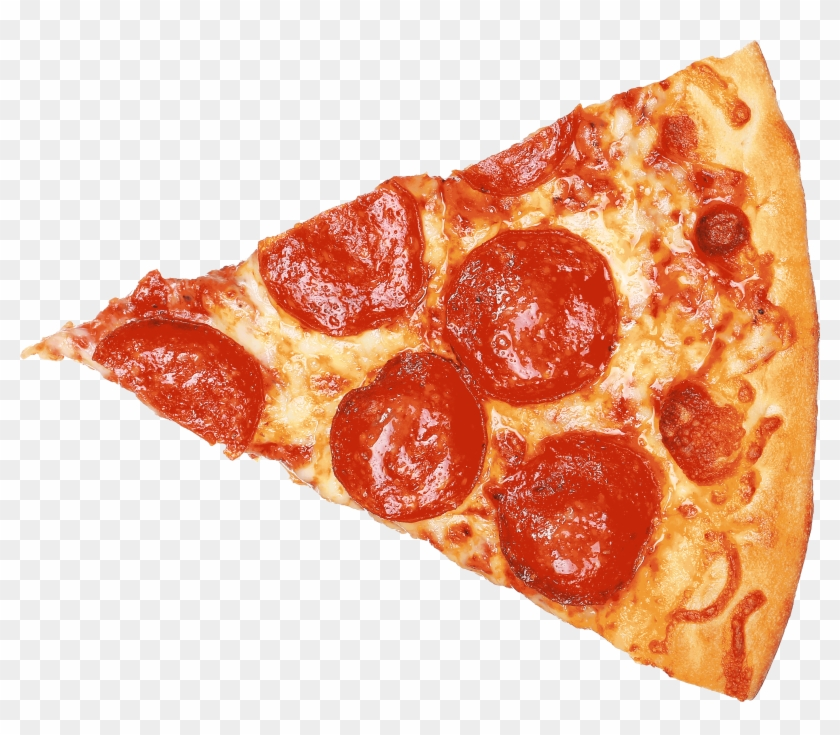 Transparent Pizza Slice.
