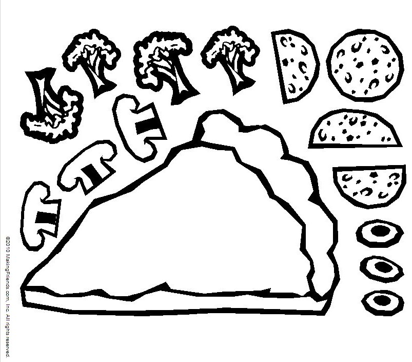 Pizza Toppings Clipart Black And White 20 Free Cliparts