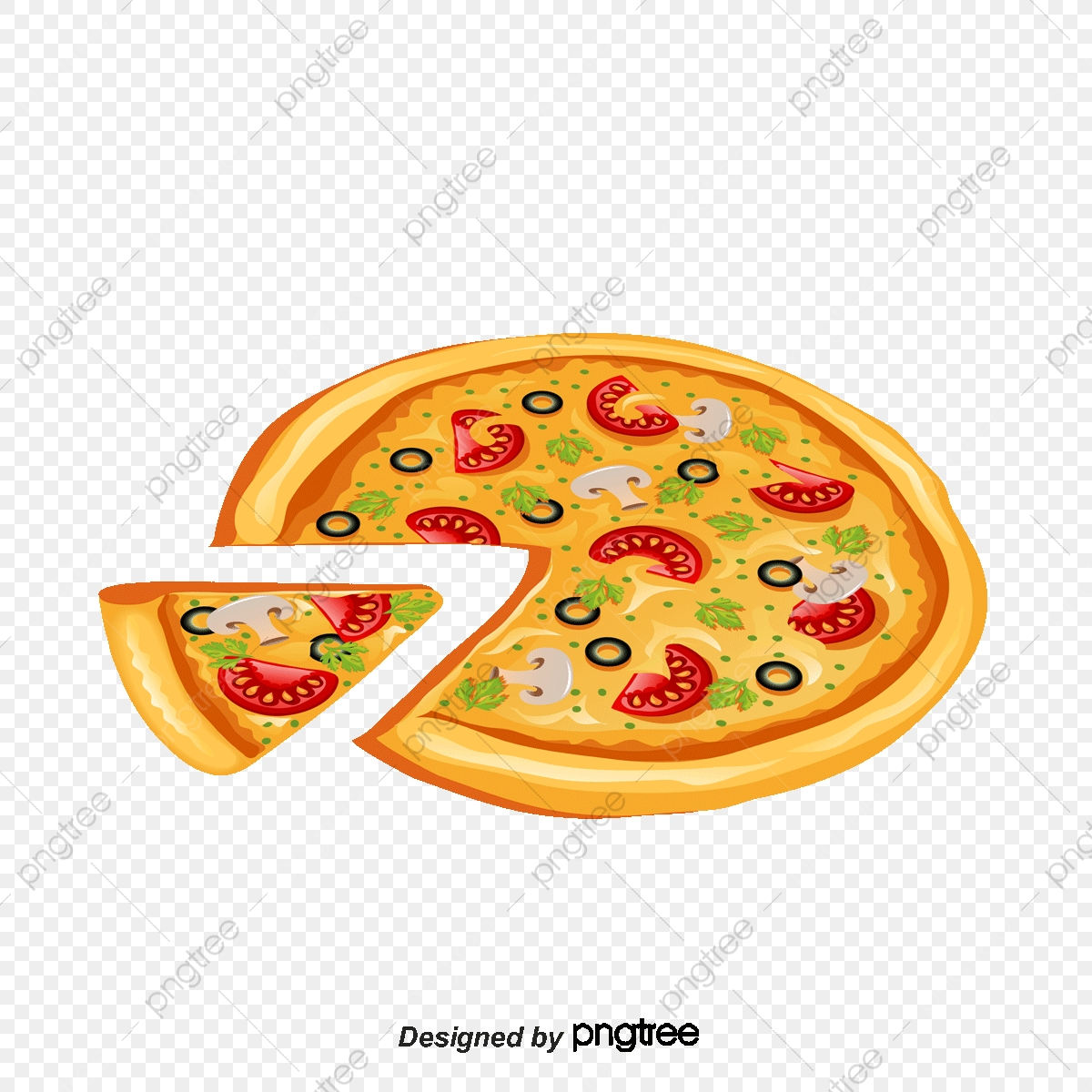 Pizza Vector Material, Pizza Vector, Pizza, Vector PNG and.