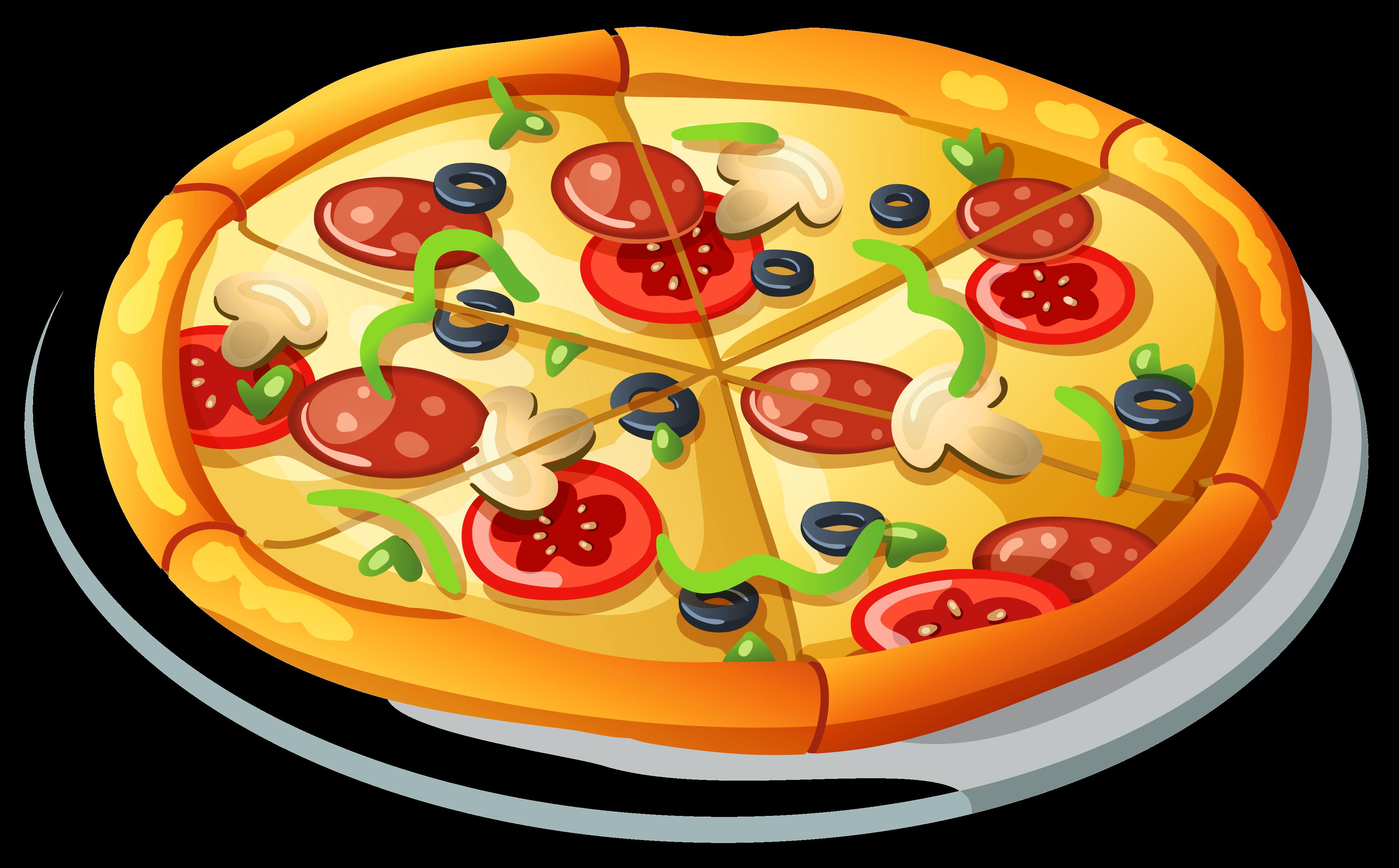 Pizza Vector Clipart Transparent Png.