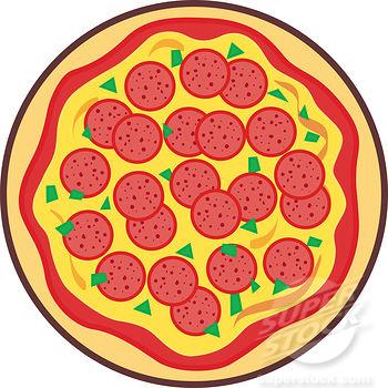 Whole pizza gif clipart.