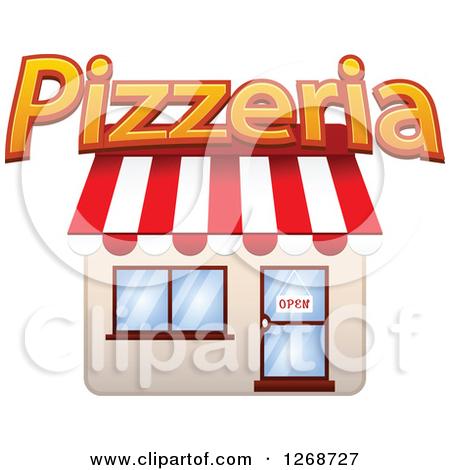 Pizzeria building clipart.