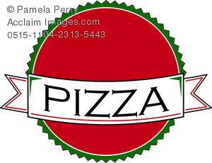 Clip Art Image of a Pizza Parlor Logo Design.