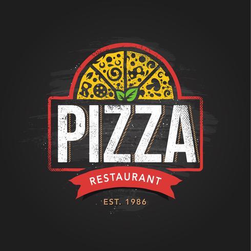 Pizzeria Logo Template.