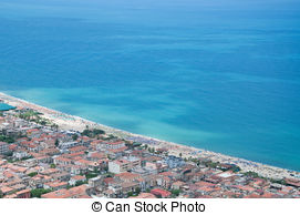 Pictures of Beach of Pizzo, Calabria, Italy.