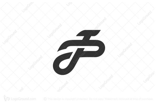 Exclusive Logo 116841, Pj Or Jp Monogram Logo.