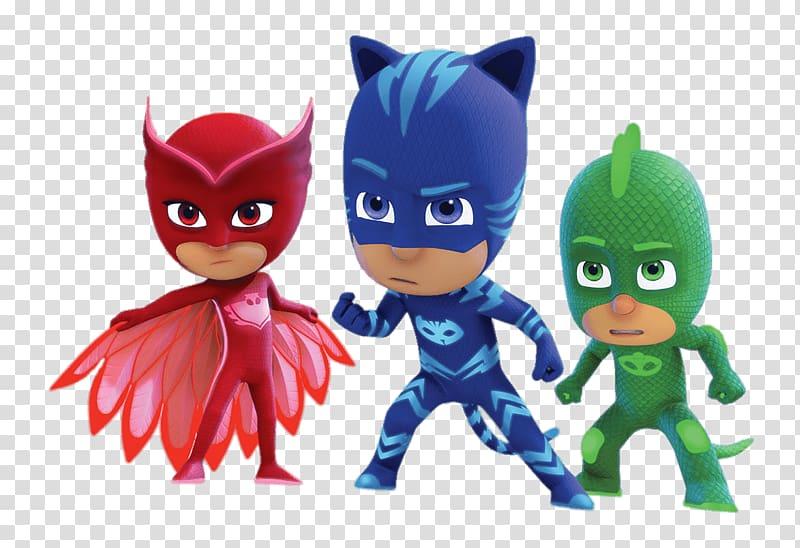 PJ Mask Owlette, Catboy, and Gecko illustration, PJ Masks.