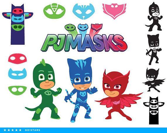 PJ Masks clipart silhouette PJ Masks svg Catboy svg file.