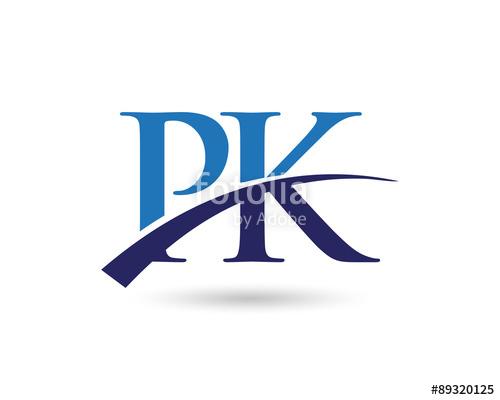 PK Logo Letter Swoosh\