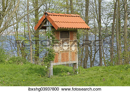 "Stock Photography of ""Insect hotel, Plon, Schleswig."