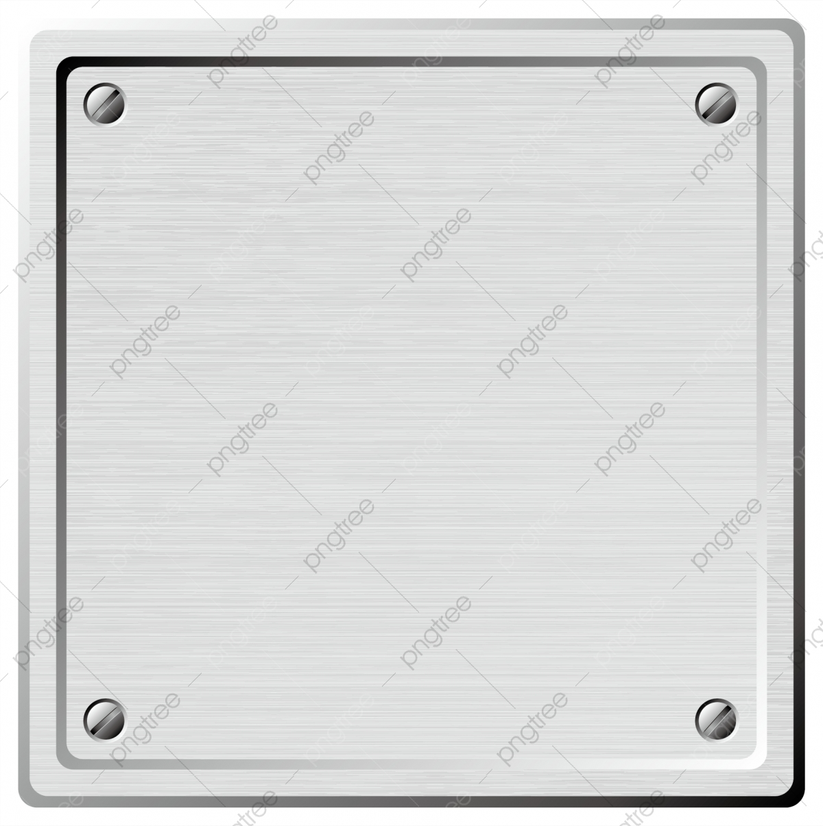 Placa de metal png.