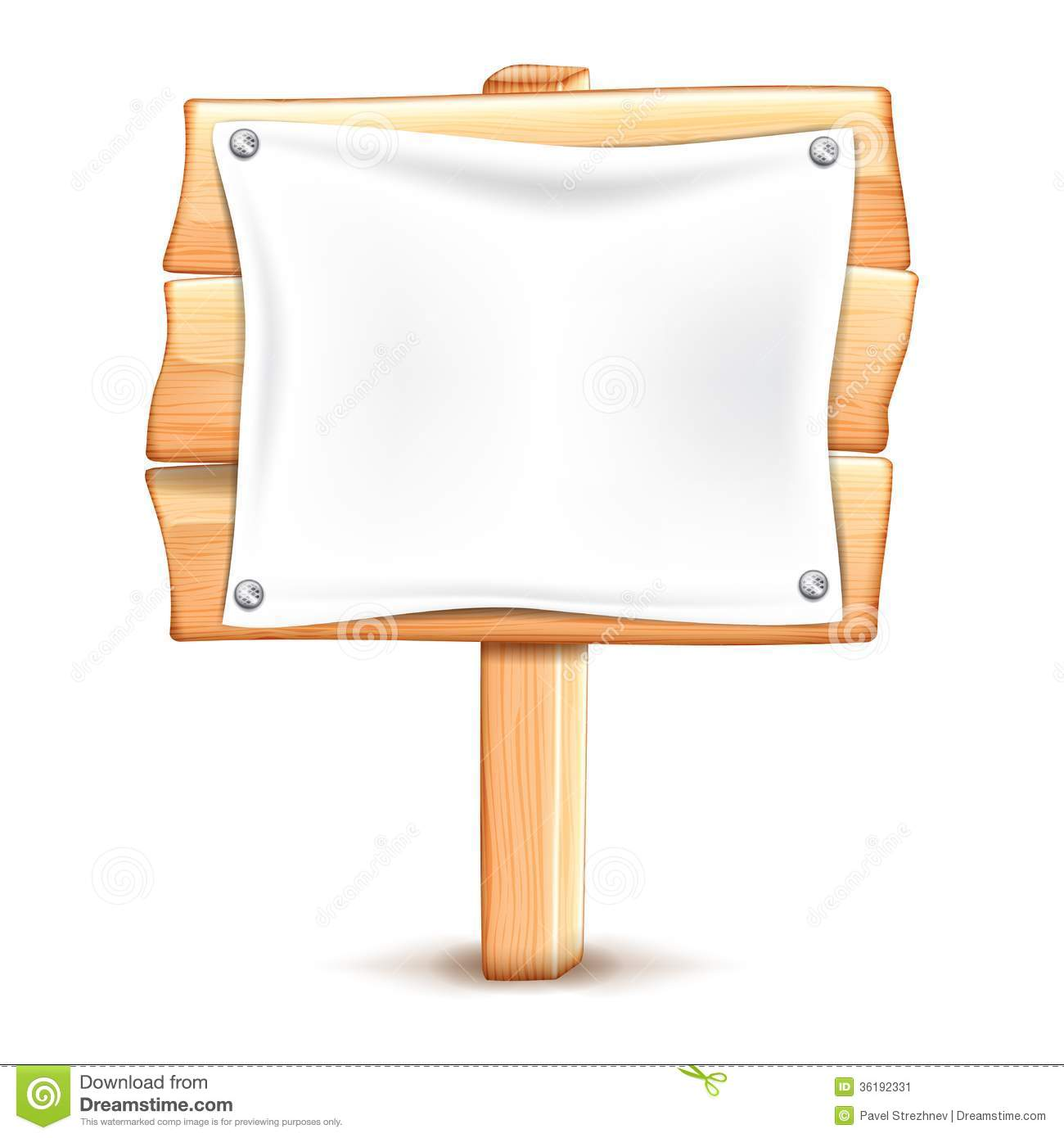 Hanging Placard Clipart.