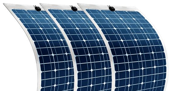 Nueva gama de kits solares con placas flexibles.