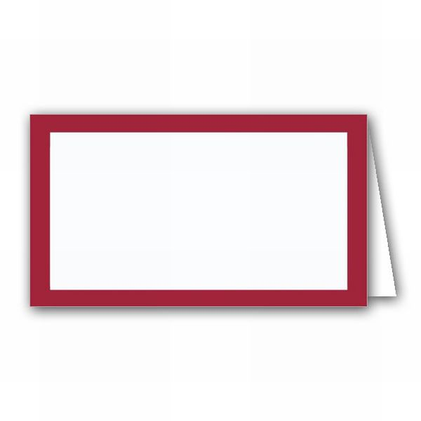 Borders Burgundy Place Cards.