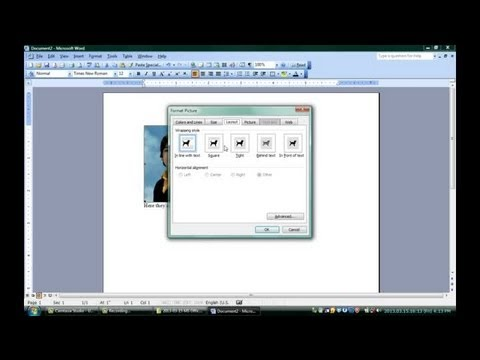 How to Put Words in Top of Pictures Using Microsoft Word : Microsoft Word &  Excel.