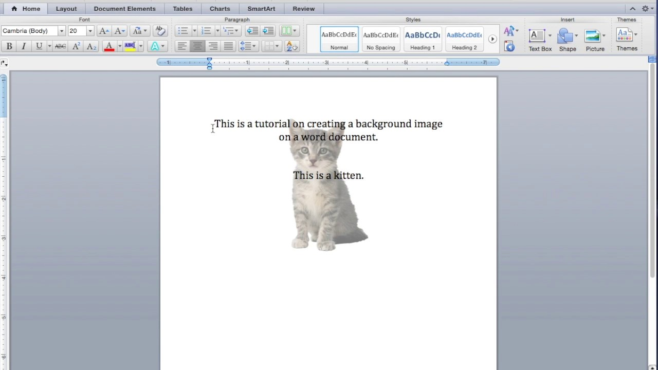 Place Text Over an Image in Word.